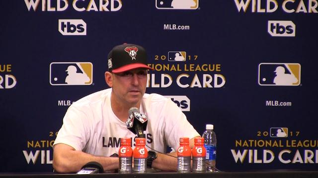 Diamondbacks manager Torey Lovullo discusses the wild-card game against the Colorado Rockies.