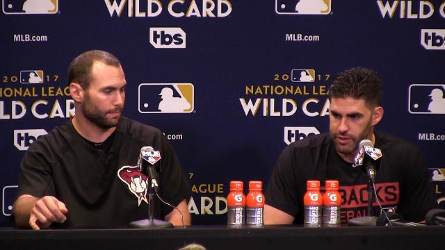 Arizona Diamondbacks sluggers Paul Goldschmidt and J.D. Martinez share insights on each other before the wild-card game against the Rockies.