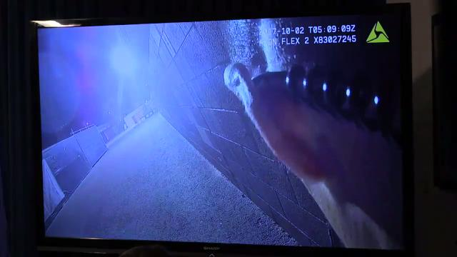 Body-camera footage of shooting in Las Vegas