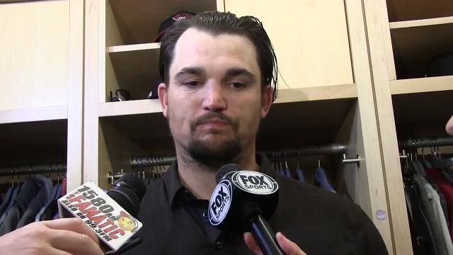 Diamondbacks reliever Zack Godley discusses his effort after relieving starter Taijuan Walker in Friday's NLDS Game 1 loss in Los Angeles.