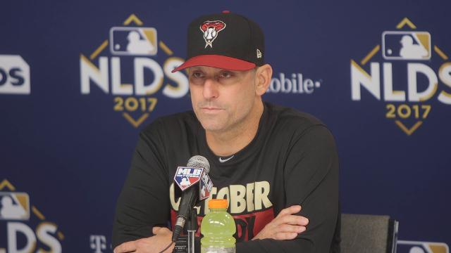 Diamondbacks manager Torey Lovullo talks about what needs to happen to the Diamondbacks to extend the NLDS with the Los Angeles Dodgers.