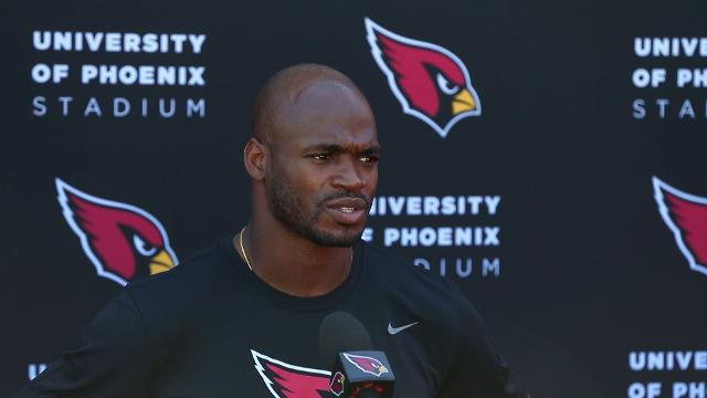 Adrian Peterson on how he learned he became a Cardinal