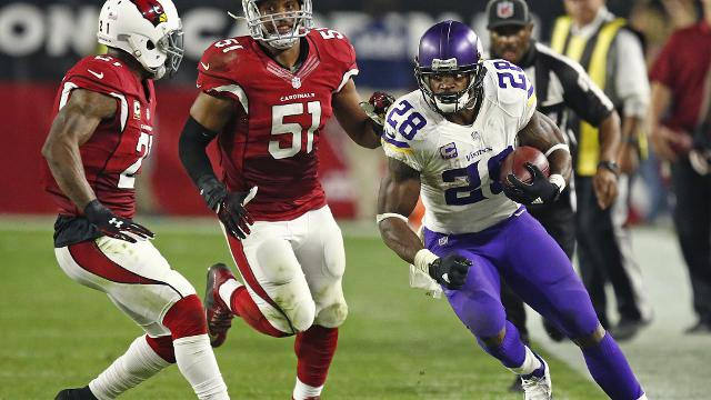 Cardinals offensive coordinator excited to have Adrian Peterson