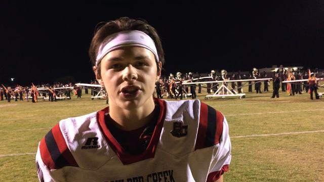 Hendrix Johnson of Boulder Creek after win over Mountain Ridge