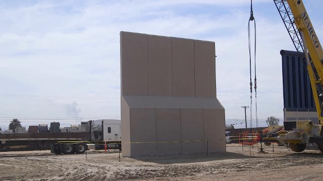 Construction of Border Wall prototypes