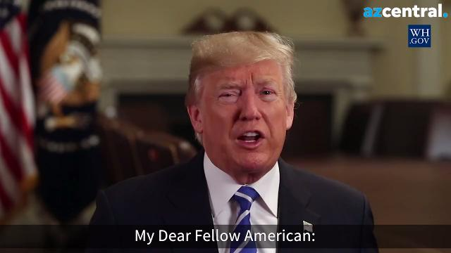 President Donald Trump has released a videotaped message welcoming new U.S. citizens. It will be played during naturalization ceremonies across the country.