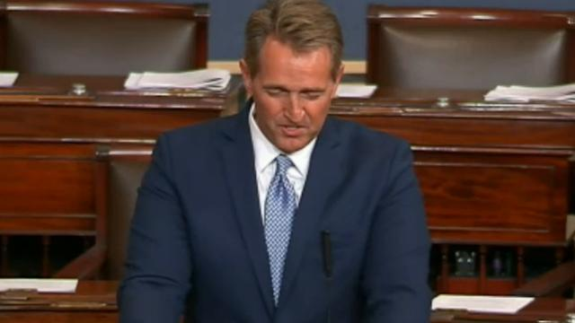 Sen. Jeff Flake on Tuesday condemned the nastiness of politics and announced he will not seek re-election in 2018. C-SPAN