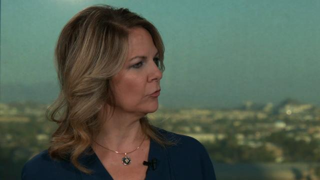 Kelli Ward answers questions after Jeff Flake announces he won't run again