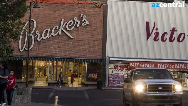 After 93 years, the Bracker's Department Store in downtown Nogales, Arizona closed its doors. Owners blamed a steady decrease in the number of Mexican shoppers crossing the border amid long wait times at the border. Nick Oza/azcentral.com