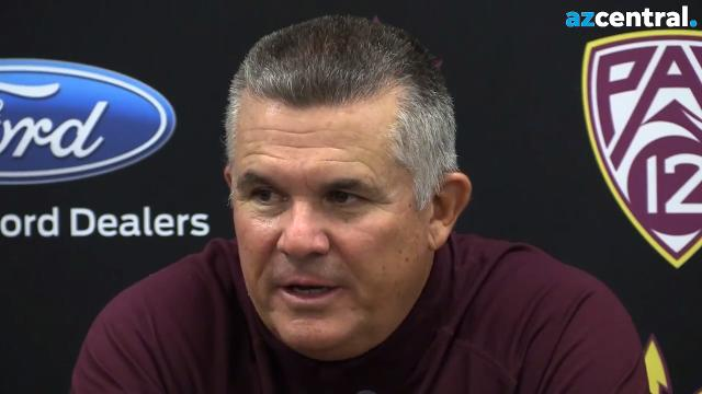 ASU coach Todd Graham, quarterback Manny Wilkins and running back Demario Richard discuss ASU's win over Colorado on Saturday night at Sun Devil Stadium.