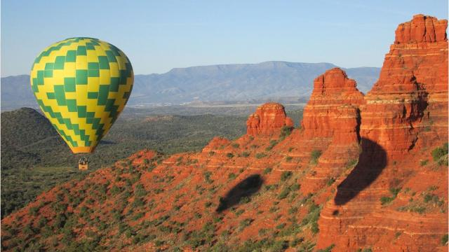 See Sedona from the sky on a helicopter or hot-air balloon tour