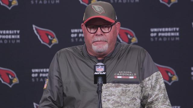 Cardinals coach Bruce Arians, quarterback Drew Stanton and receiver Larry FItzgerald discuss Arizona's 22-16 loss to the Seahawks on Thursday night.   Sean Logan/azcentral sports