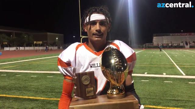 Williams running back Daniel Lopez talks winning the 1A state football championship, how he felt on his touchdown run and thanks team, family and fans.