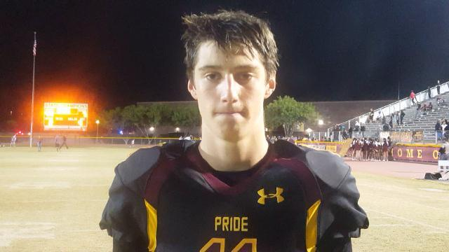 Mountain Pointe junior quarterback Nick Wallerstedt recaps his team's 44-7 win over Highland in the 6A playoffs.