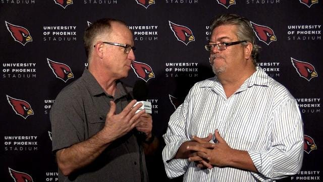 Cardinals vs. Texans: Kent Somers and Bob McManaman after practice