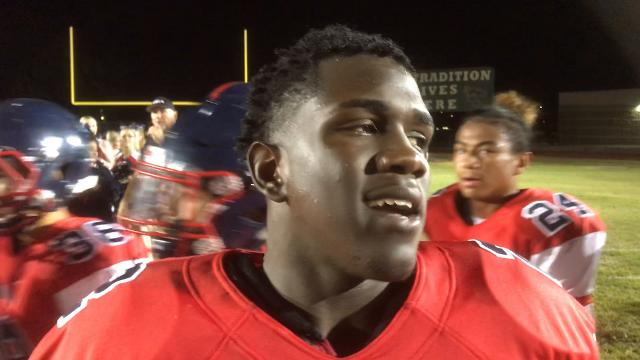Centennial RB Zidane Thomas talks about making up for fumble in only loss