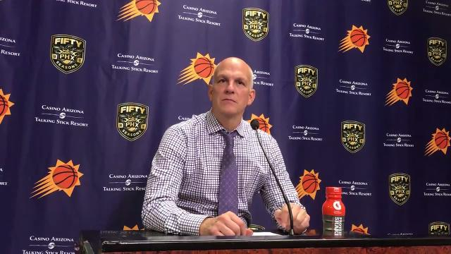 Suns interim head coach Jay Triano discusses his team's bench production and ball movement after Phoenix's win over the Bulls on Sunday.
