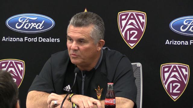 ASU football coach Todd Graham discusses his team's approach toward facing the Arizona Wildcats in the Territorial Cup.