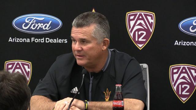 ASU football coach Todd Graham discusses the importance of the Territorial Cup against Arizona during his press conference on Monday.