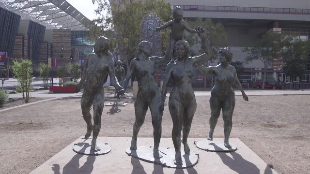 Reporter Richard Ruelas explains the story behind the naked statues in downtown Phoenix. Thomas Hawthorne/azcentral.com