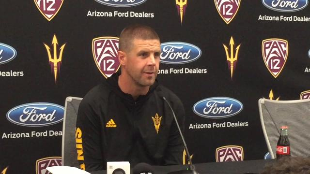 ASU offensive coordinator Billy Napier on ASU run game, Territorial Cup, ball protection