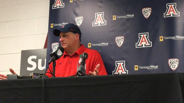 Arizona Wildcats coach Rich Rodriguez discusses his team's loss to ASU in the Territorial Cup on Saturday.