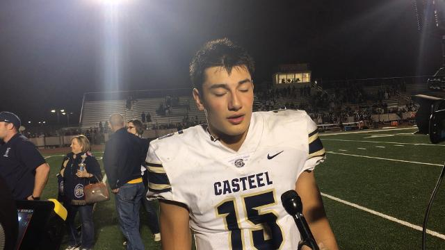 QB Gunner Cruz talks after Casteel's 3A State Title victory