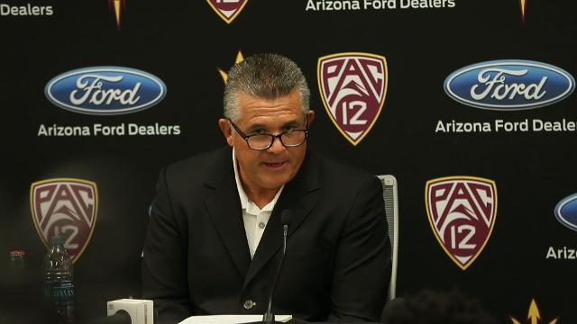 Todd Graham talks after firing