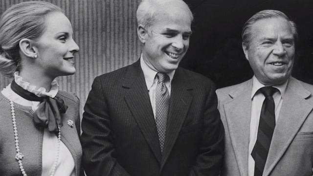 John McCain transitions from the Navy to Washington