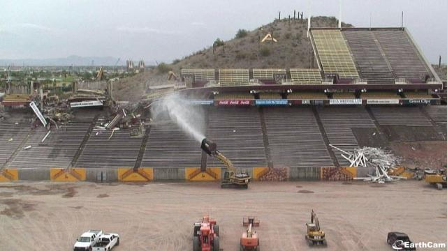 Sun Devil Stadium east side demolition