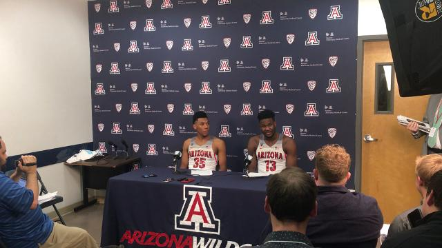 UA's Allonzo Trier and Deandre Ayton discuss the Wildcats' win over ASU on Saturday.