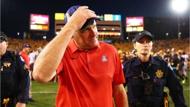Head football coach Rich Rodriguez has been fired from the University of Arizona.
