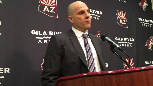 Coyotes coach Tocchet reacts to loss