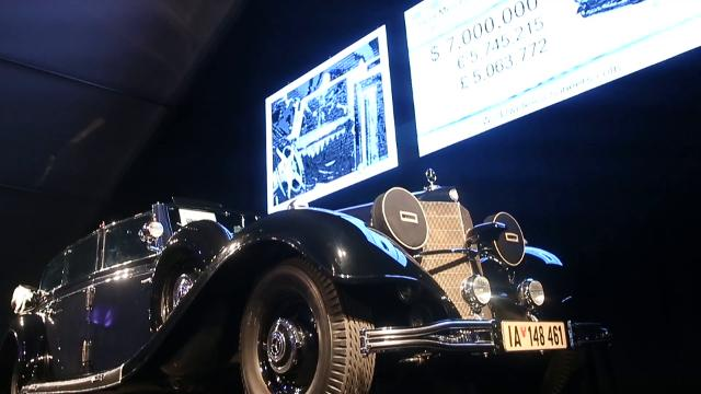 Adolf Hitler's wartime Mercedes is auctioned in Scottsdale, but with the highest bid at $7 million, it did not meet the seller's minimum price. Michael Chow/azcentral.com