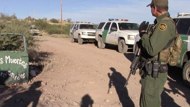 A humanitarian aid group accuses Border Patrol agents of systematically vandalizing water aid stations left for migrants in the Arizona desert.