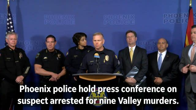 Phoenix police hold press conference on serial killings