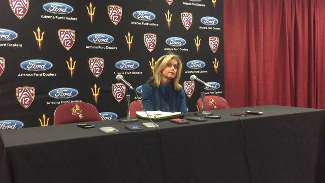 Coach Charli Turner Thorne, players Robbi Ryan and Courtney Ekmark on 58-56 loss to Utah