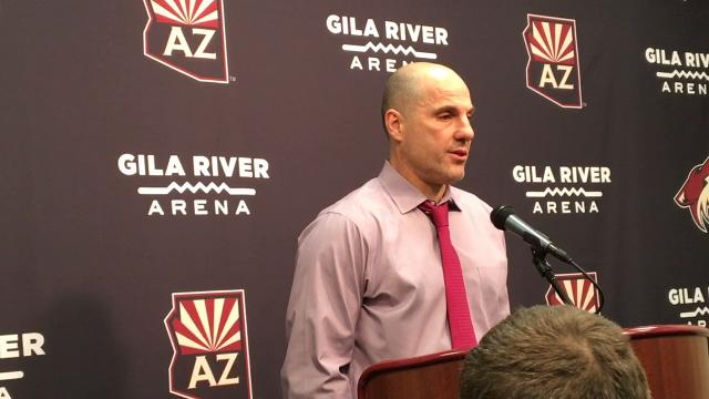 Coyotes head coach Rick Tocchet discusses his team's overtime win over the Islanders on Monday.