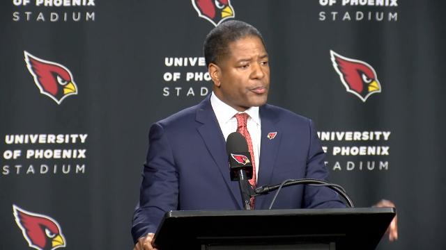 New Cardinals coach Steve Wilks expressed his gratitude for his new role, discussed what he's looking for in coaches and talked about his coaching approach in his introductory press conference January 23, 2018.