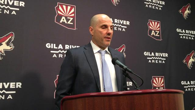 Coyotes coach Tocchet on loss to Blue Jackets