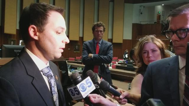 Arizona House Speaker J.D. Mesnard answers reporters' questions on Feb. 1, 2018, after the chamber voted to expel Rep. Don Shooter, R-Yuma, citing a pattern of workplace harassment. Video by Andrew Nicla/azcentral