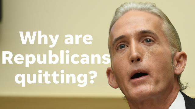Forty-plus Republicans are quitting the U.S. House, including YouTube favorite Trey Gowdy. That is an exodus, columnist Joanna Allhands says.