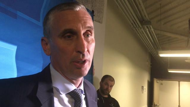 ASU coach Bobby Hurley speaks after a loss to Washington.