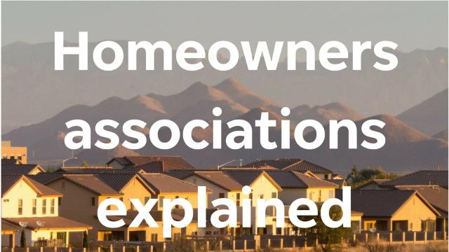 What are homeowners associations?