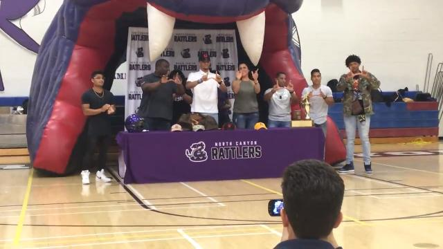 North Canyon wide receiver Solomon Enis commits to play football at Utah on Wednesday.
