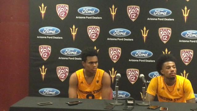 ASU's Tra Holder and Shannon Evans discuss a last-second win over USC.
