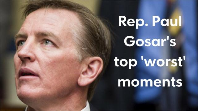 Arizona Rep. Paul Gosar keeps doing things that embarrass Arizona. Here are a few of his worst moments, according to The Arizona Republic's editorial board.