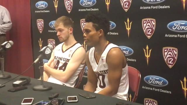 Senior guards Tra Holder and Kodi Justice discuss ASU's win over UCLA on Saturday.