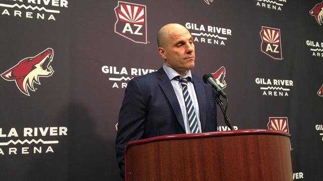 Rick Tocchet on Coyotes' 6-1 rout of Blackhawks