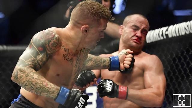 "Greg Moore talks it up with UFC Fighter Dustin ""The Diamond"" Poirier who will be fighting local UFC Justin Gaethje at Gila River Arena April 14th."